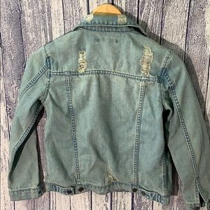 Elwood Jackets & Coats - Elwood Trucker Distressed Light Denim Jacket, Med
